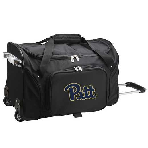CLPIL401: NCAA Pittsburgh Panthers 22IN WHLD Duffel Nylon Bag